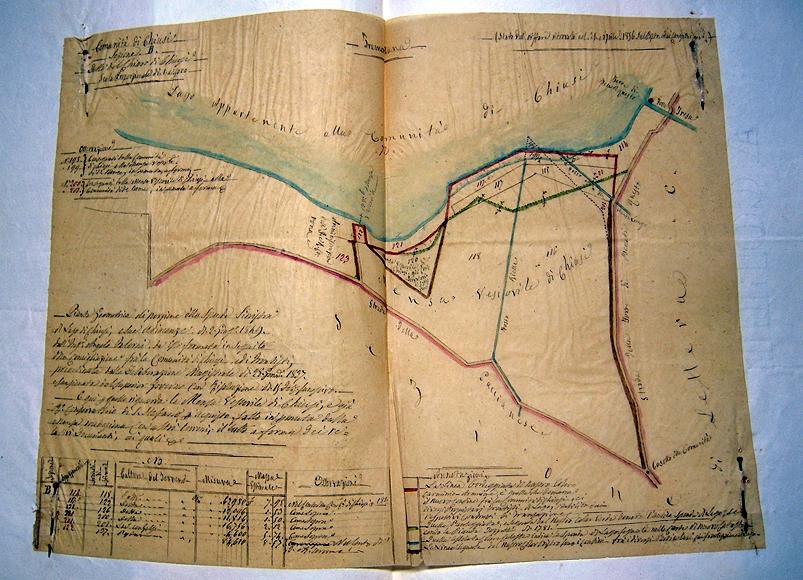 Carta del del 1849 dall'Archivio Vescovile di Chiusi